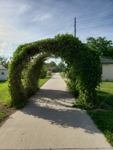 Archway over the Wabash Trace