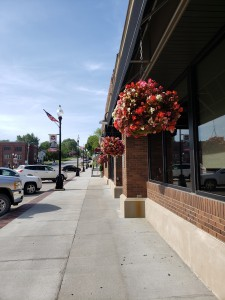 Main Street Malvern hanging flowers